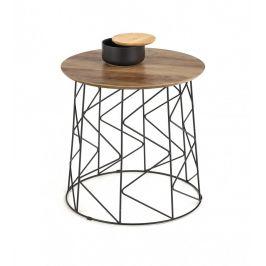 Odkládací stolek MUSAKA černá / ořech Halmar