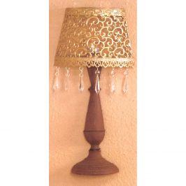 Nástěnná dekorativní kovová lampa zlatá/hnědá