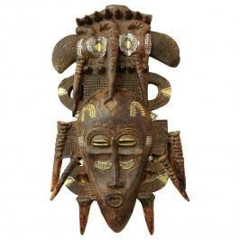 Závěsná dekorativní maska ASHANTI