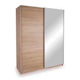 Skříň s posuvnými dveřmi DECOR 150 dub/zrcadlo