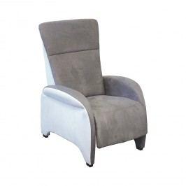 Relaxační polohovací křeslo ROXANA šedá/bílá K140