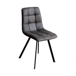 Jídelní židle BERGEN šedé mikrovlákno
