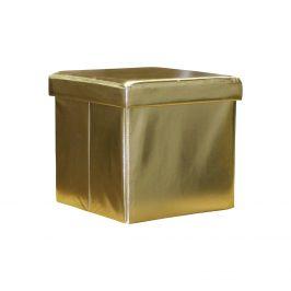 Sedací úložný box zlatý