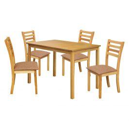 Stůl + 4 židle BARCELONA lak javor