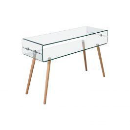 Odkládací stolek sklo/buk