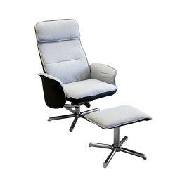 Relaxační křeslo s podnožkou DAN šedé