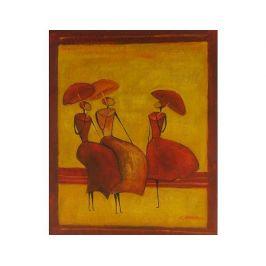 Obraz - Dámy na zábradlí Dekorační obraz do bytu