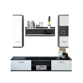 Obývací stěna Vani, černá / bílá