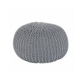 Taburet Soppalco, bavlna šedá