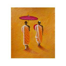 Obraz - Mniši s deštníkem Dekorační obraz do bytu