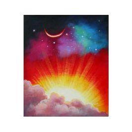 Obraz - Východ slunce ve vesmíru