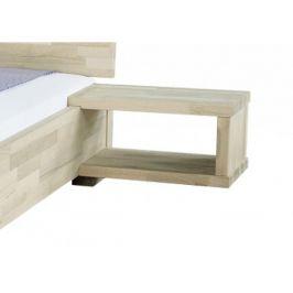 Masivní noční stolek Alba, L, bílý lak