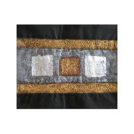 Obraz - Zlaté, bílé kostičky Dekorační obraz do bytu