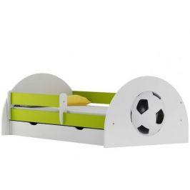 Postýlka s matrací a zásuvkou FOTBAL ABS 20S, 70x140 cm
