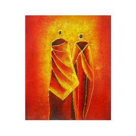 Obraz - Oranžoví mniši
