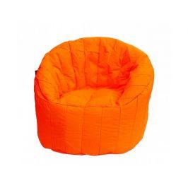 Zářivě oranžový sedací vak BeanBag Lumin Chair Obývací stěna