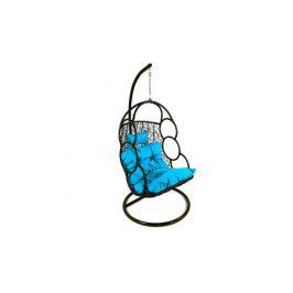 Závěsné relaxační křeslo SEWA - modrý sedák