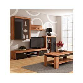 TV stolek Mamba, švestka-černý lesk