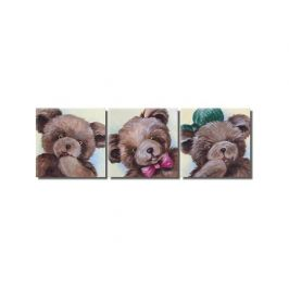 Vícedílné obrazy - Veselí medvídci