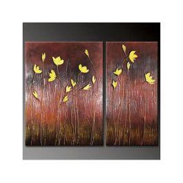 Vícedílné obrazy - Žluté kvítky