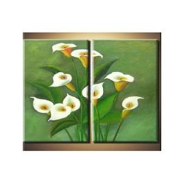 Vícedílné obrazy - Romantická kytice