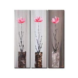 Vícedílné obrazy - Růžové květy