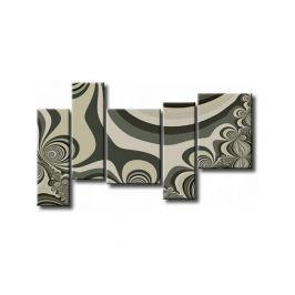 Obrazový set - Zelená abstrakce
