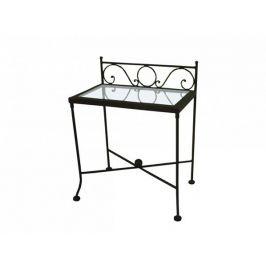 Kovaný noční stolek se sklem ROMANTIC 0420B