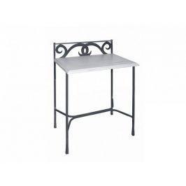 Kovaný noční stolek s masivní deskou GRANADA 0413C