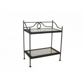 Kovaný noční stolek se sklem GALICIA 0446