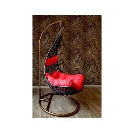Závěsné relaxační křeslo NELA - černé Nábytek na zahradu