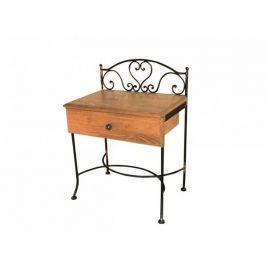 Kovaný noční stolek s masivní zásuvkou MALAGA 0409A