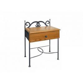 Kovaný noční stolek se zásuvkou CARTAGENA 0428A