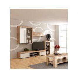 Obývací stěna Mamba dub-bílý lesk Obývací stěna