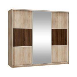 Šatní skříň Rico 240 se zrcadlem
