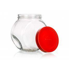 BANQUET Dóza skleněná WALLIBUCK 1,5 l, červené víčko