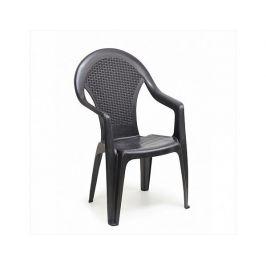 Plastová zahradní židle Giglio antracit