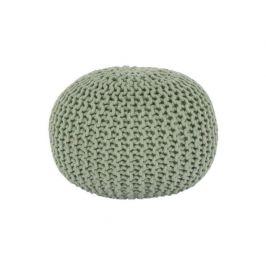 Pletený taburet, světlezelená bavlna, GOBI TYP 2