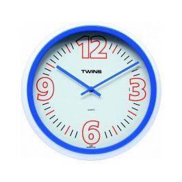 Nástěnné hodiny Twins 2896 blue 31cm