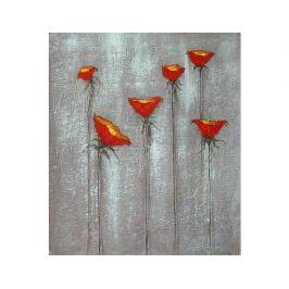 Obraz - Červená kvítka