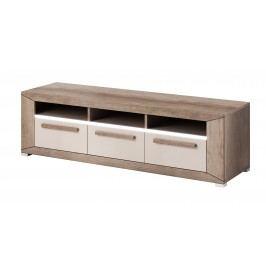 TV stolek/skříňka Typ 40 (dub canyon monument + lesk šedý pískový)