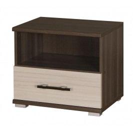 Noční stolek I16 (jasan tmavý + jasan)