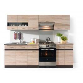 Kuchyně Junona line 240 cm Wenge a Dub Sonoma světlá