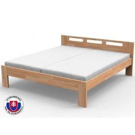 Manželská postel 140 cm Nela (masiv)