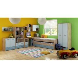 Dětský pokoj Kitty 1 Sonoma světlá + modrá