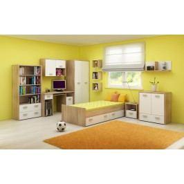 Dětský pokoj Kitty 2 Sonoma světlá + bílá
