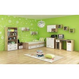 Studentský pokoj Kitty 3 Sonoma světlá + bílá