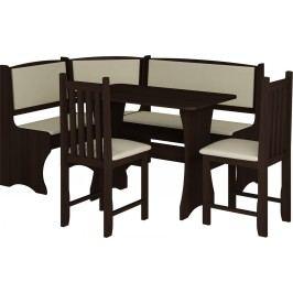 Jídelní set B wenge (s židlemi) (pro 5 osob)