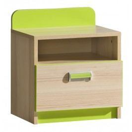 Noční stolek Ego L12 zelená