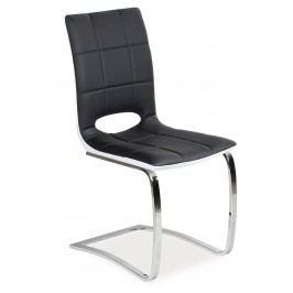 Jídelní židle H-431 (ekokůže černá + bílá)
